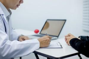 Doctors record patient data