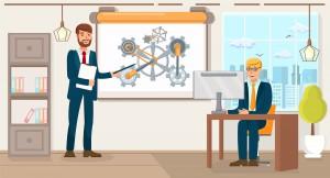Business Development. Vector Flat Illustration.