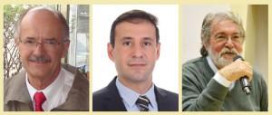 Da esquerda para a direita, professor Benedito Barraviera, fundador e editor-chefe da JVATiTD; professor Rui Seabra,  editor-associado da JVATiTD e Abel Packer, coordenador da Biblioteca SciELO (Crédito: Divulgação)